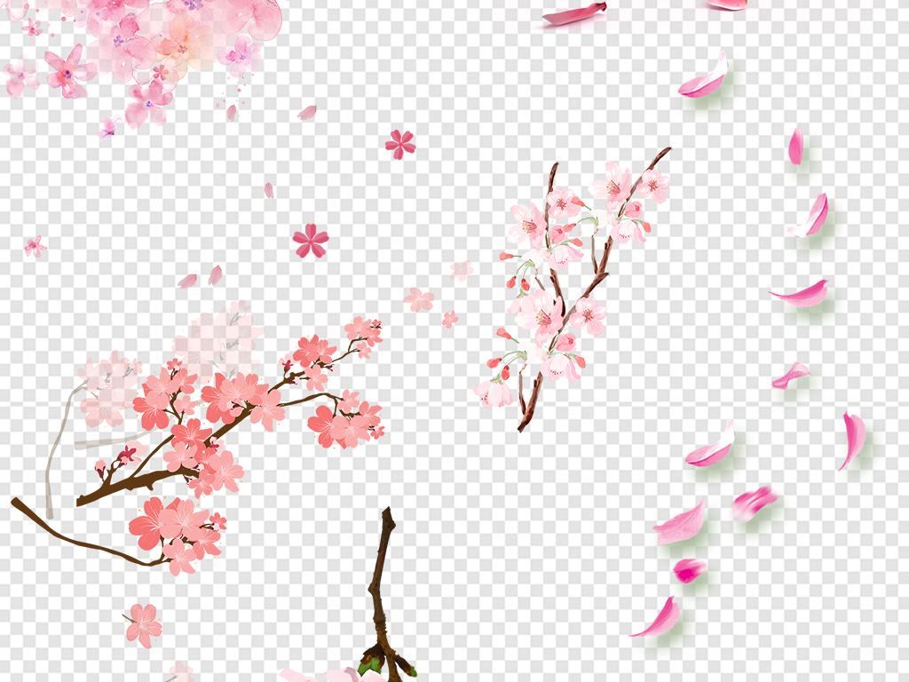 浪漫粉红色桃花樱花素材图片下载png素材 花卉