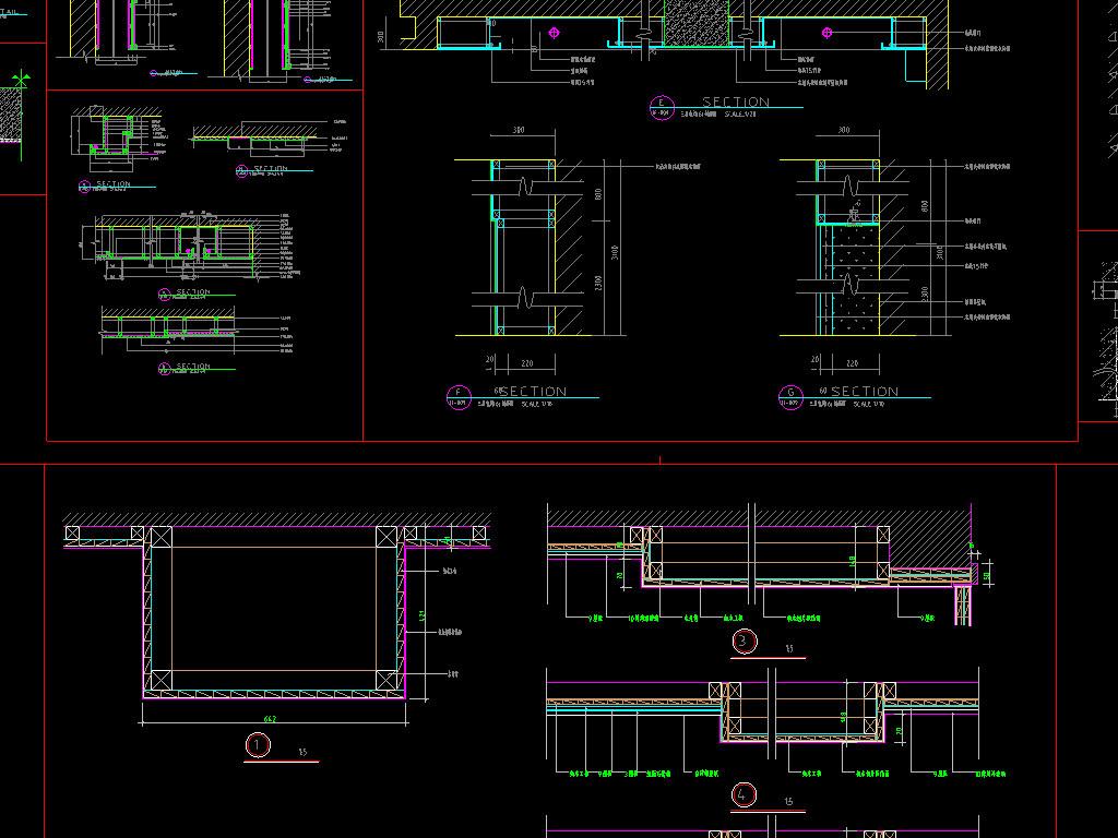家装工装cad节点祥图平面设计图下载(图片3.75mb)_工