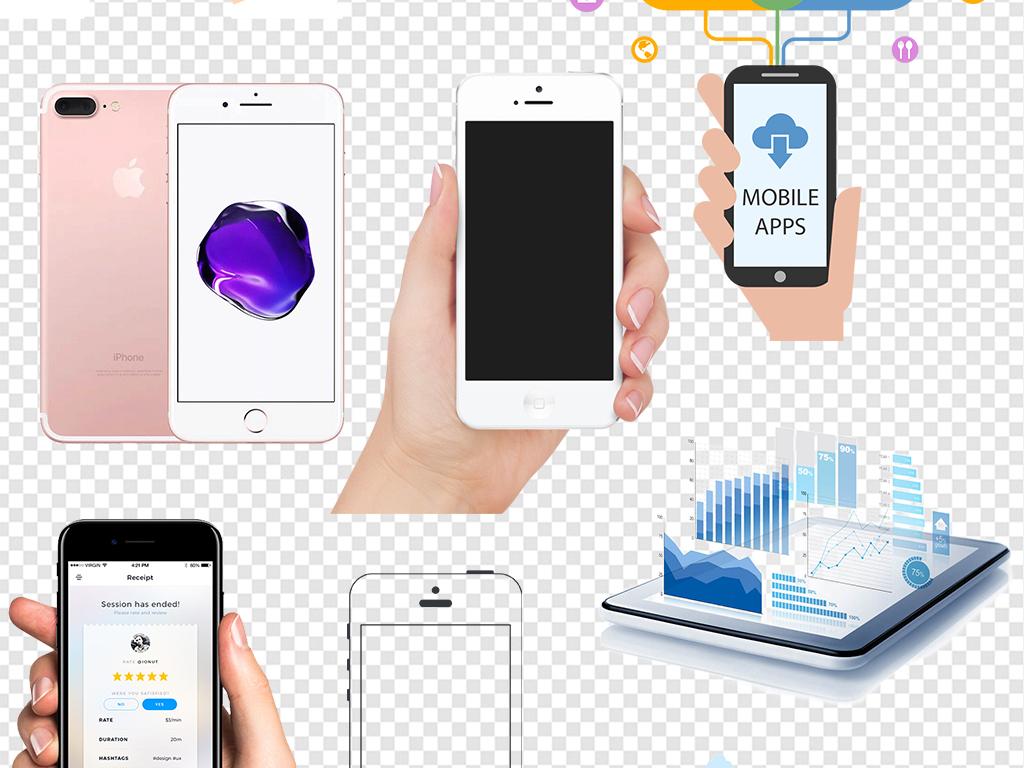 png)安卓手机背景图片广告海报苹果7手绘卡通扁平手机元素下载iphone7