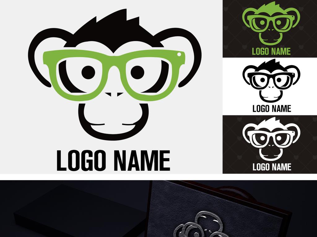 00:09 我图网提供精品流行创意猩猩培训线上教育益智玩具logo标志素材图片