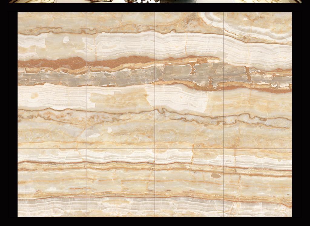 黄木纹高温大理石纹瓷砖背景墙