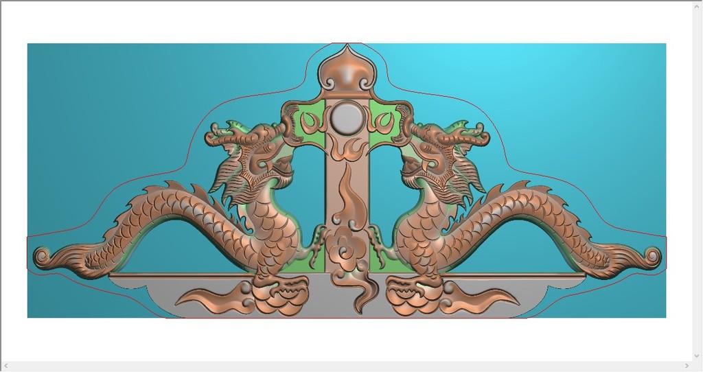 碑帽图纸宝顶之龙墓碑头碑帽石碑设计图下载(图片6.86