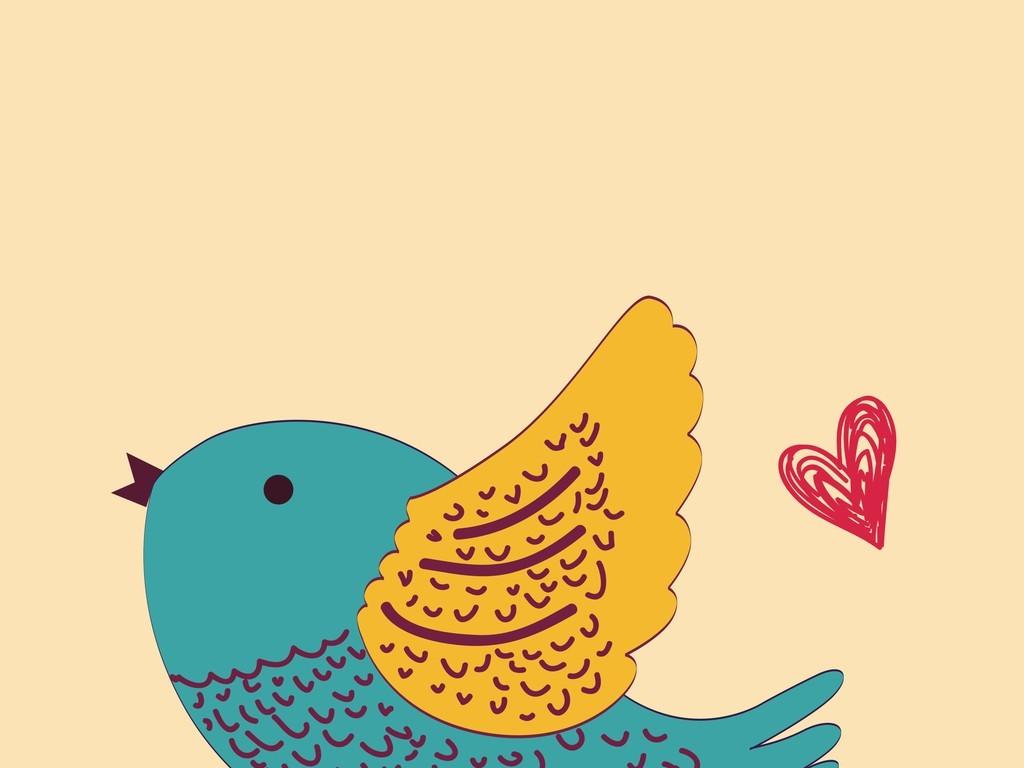 卡通图案矢量图小鸟(图片编号:16265990)_装饰图案_我