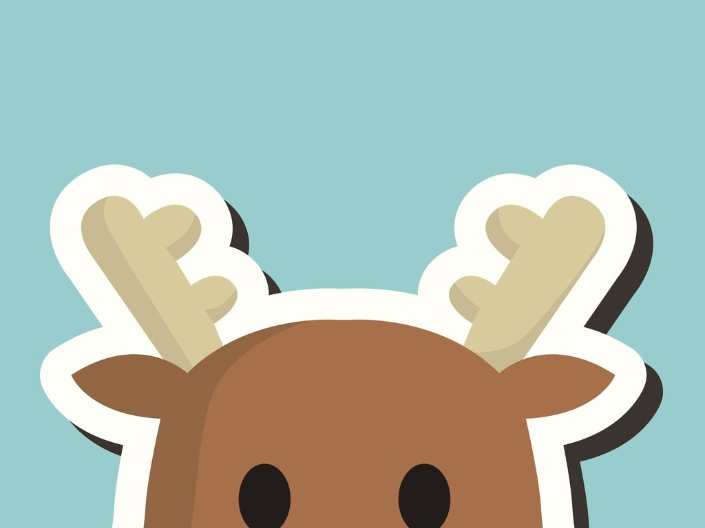 卡通图案矢量图麋鹿