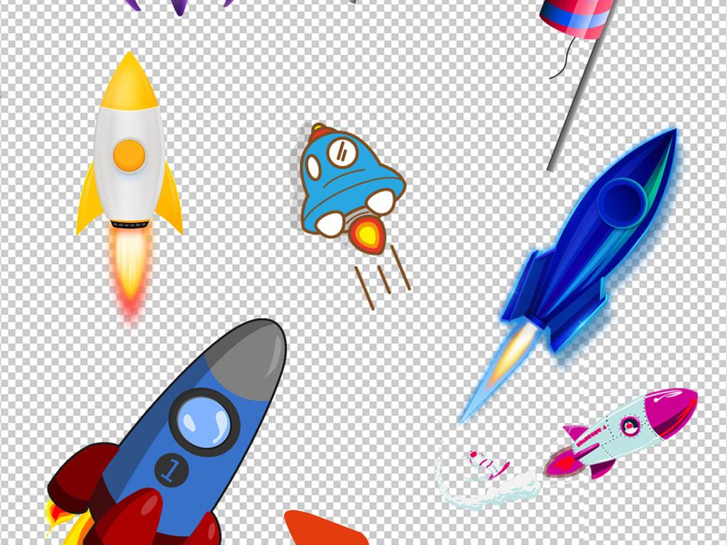 火箭元素png素材图片