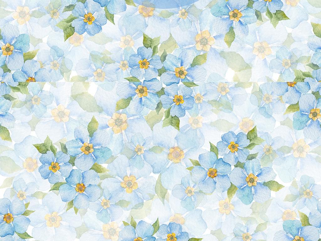 手绘水彩画水彩颜色背景小清新手绘水彩花