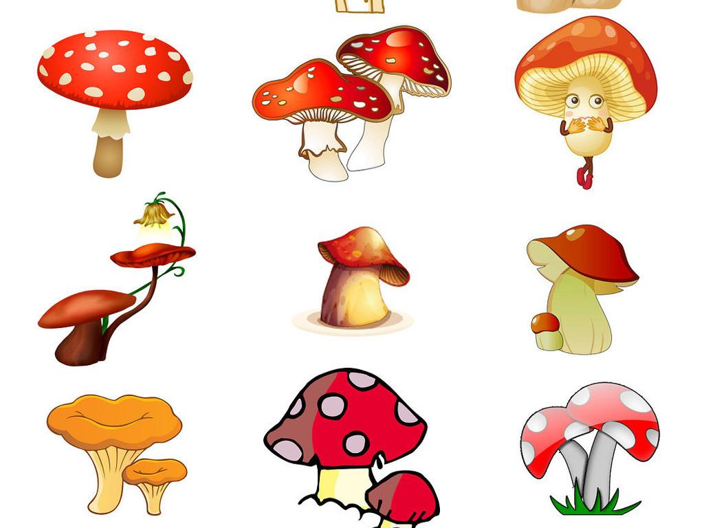创意蘑菇卡通蘑菇ps设计元素免抠库1