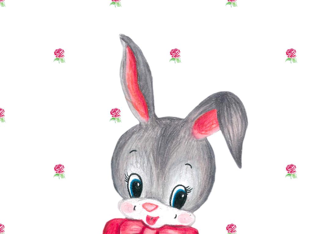 设计元素 自然素材 动物 > 卡通小兔子插画图案  卡通小兔子插画图案