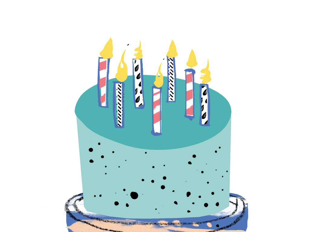 卡通生日蛋糕图案