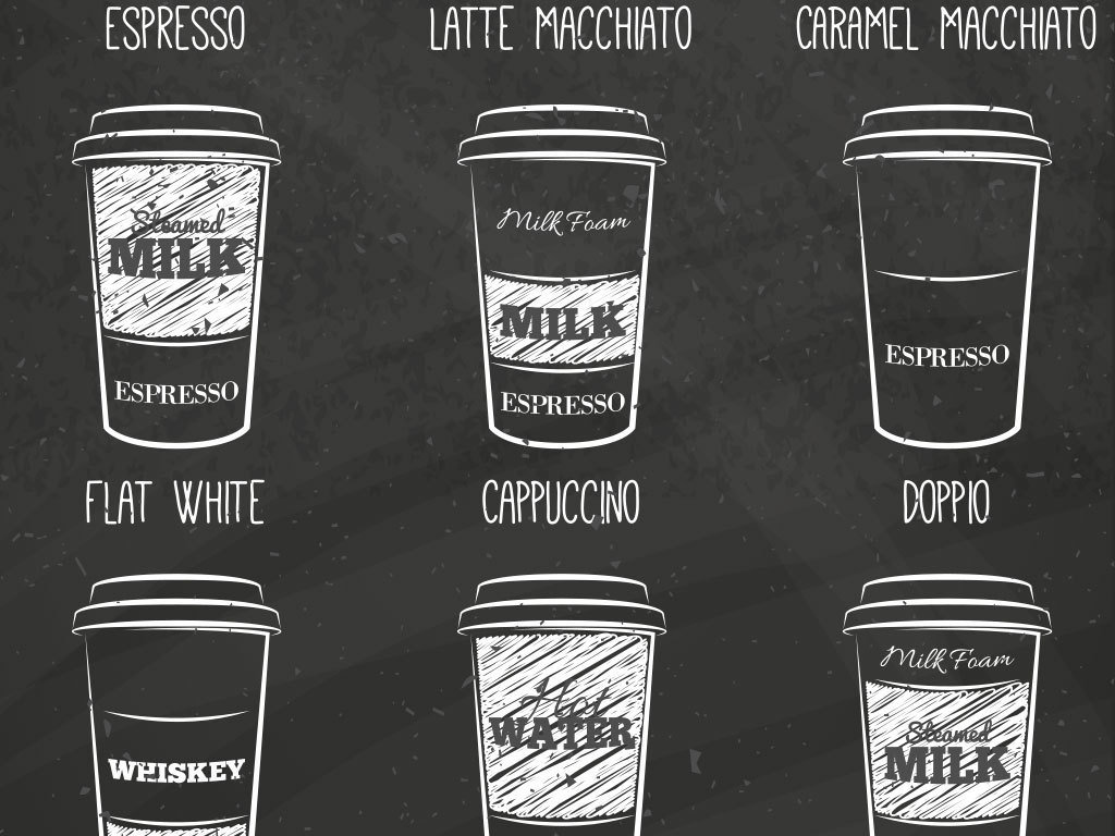 手绘咖啡杯矢量图