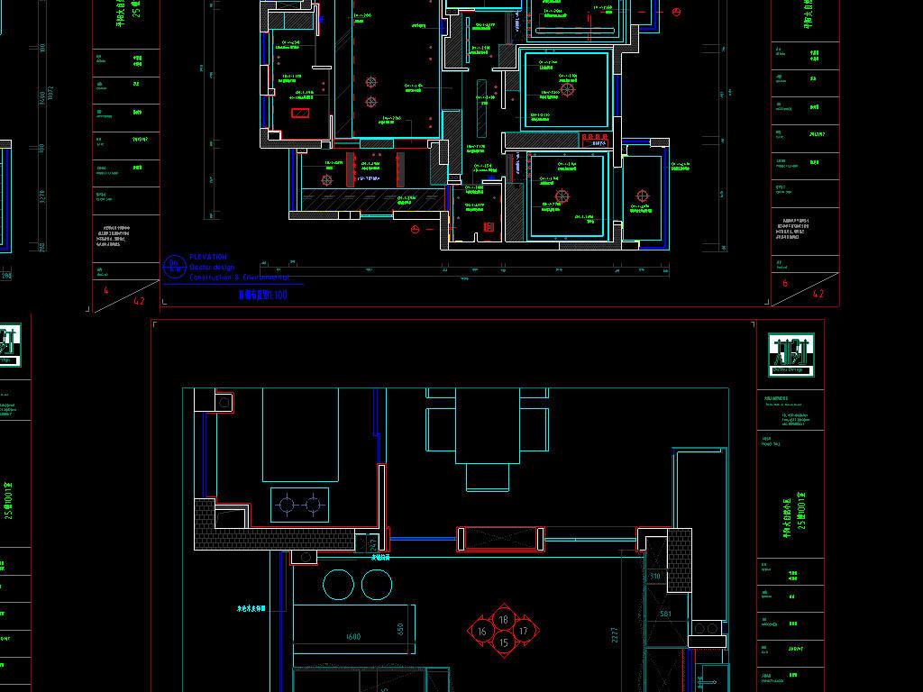 别墅CAD室内设计图