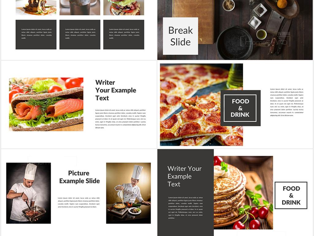 餐饮美食主题酒店餐厅介绍宣传ppt模板图片