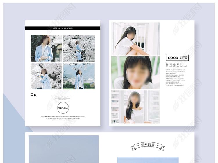 日系文字排版写真摄影海报模板