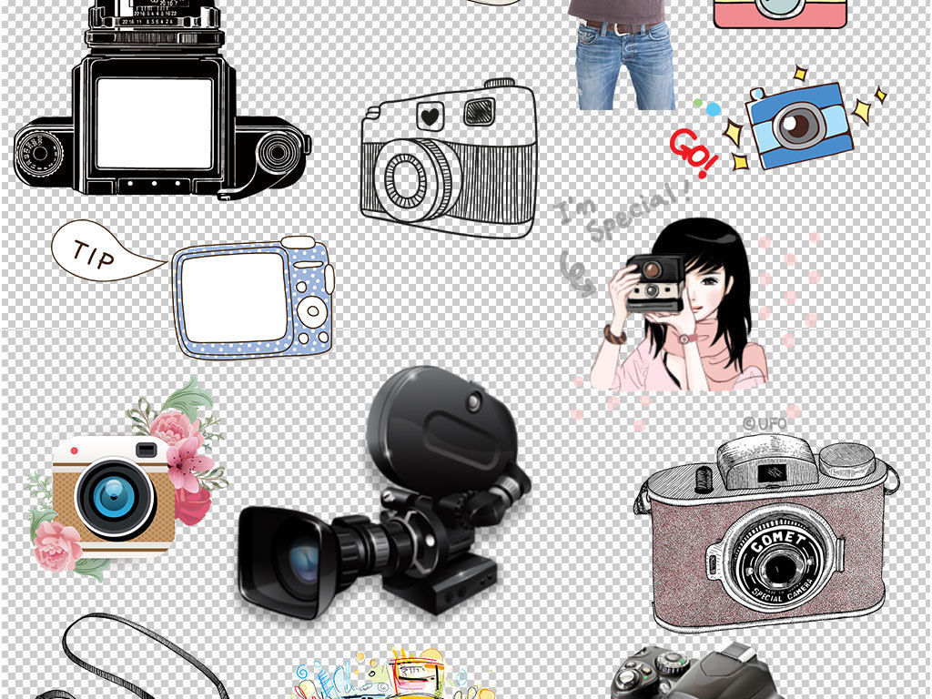 相机的卡通图片手绘相机