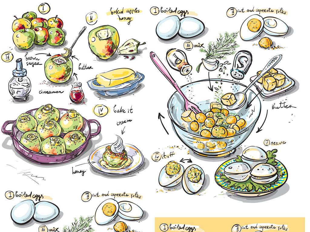 食物制作烹饪过程菜谱做饭流程图美食讲解
