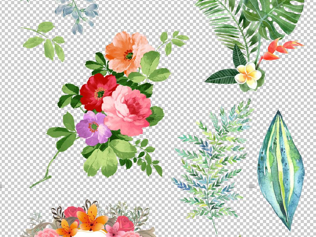 设计作品简介: 手绘植物花朵元素png素材 位图, rgb格式高清大图,使用