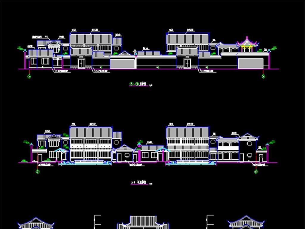 古建筑cad施工设计图