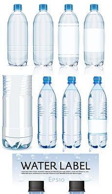 矿泉水瓶纯净水包装标签商标模板