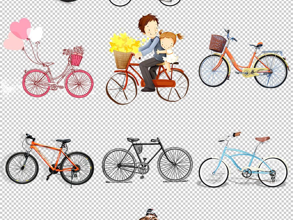 手绘自行车                                  气球水果自行车