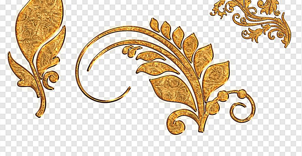 金色质感花纹分割线花纹金色质感花纹