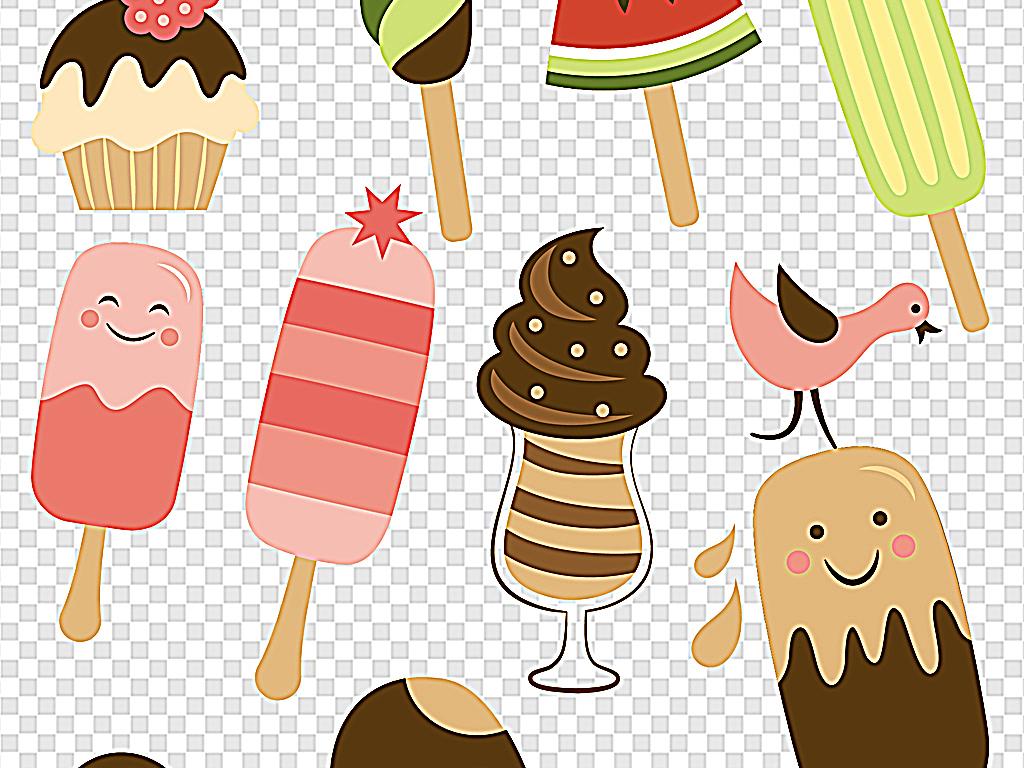 夏季冰淇淋卡通冰淇淋甜筒冰淇淋