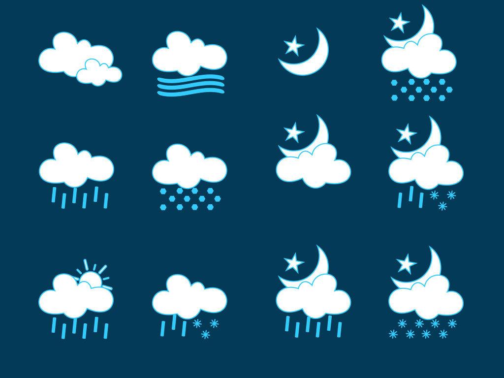 卡通阴天下雨