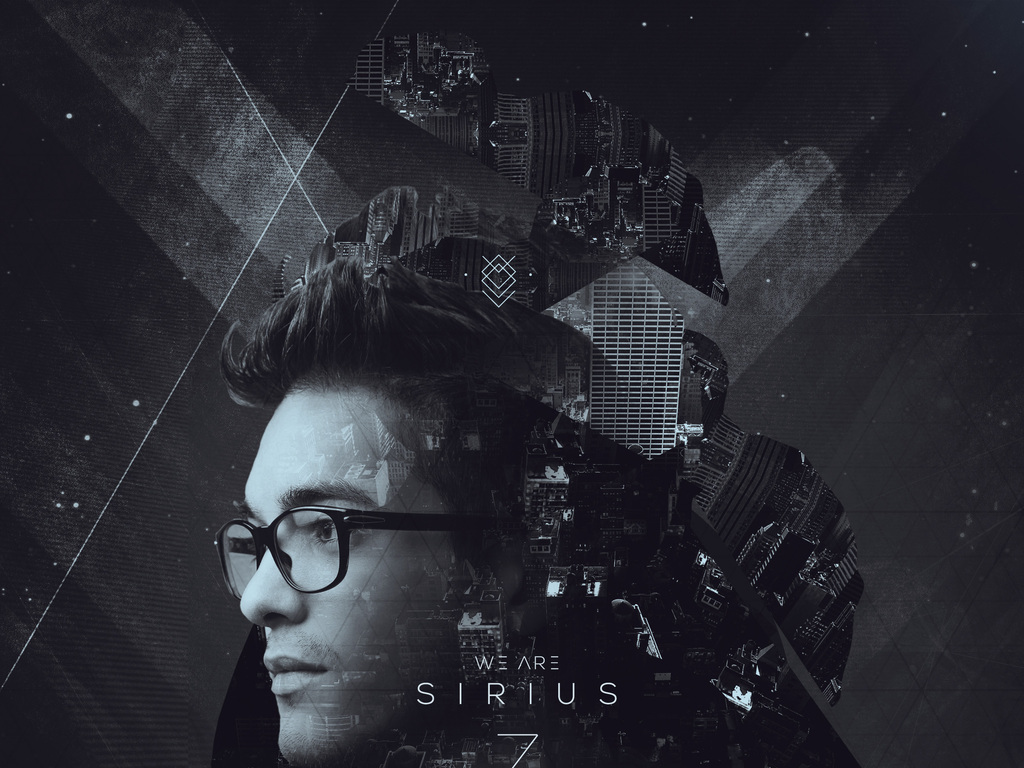 黑暗月光梦想未来智能人像科幻游戏创意海报图片