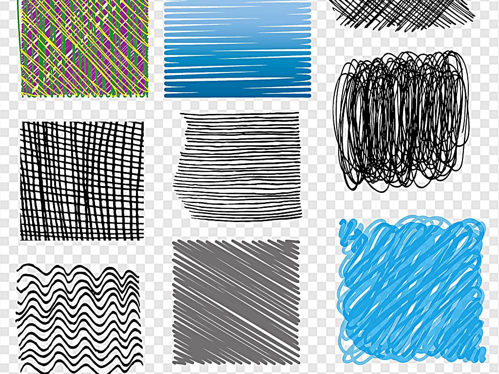 水彩彩色手绘纹理素描素材线条素材