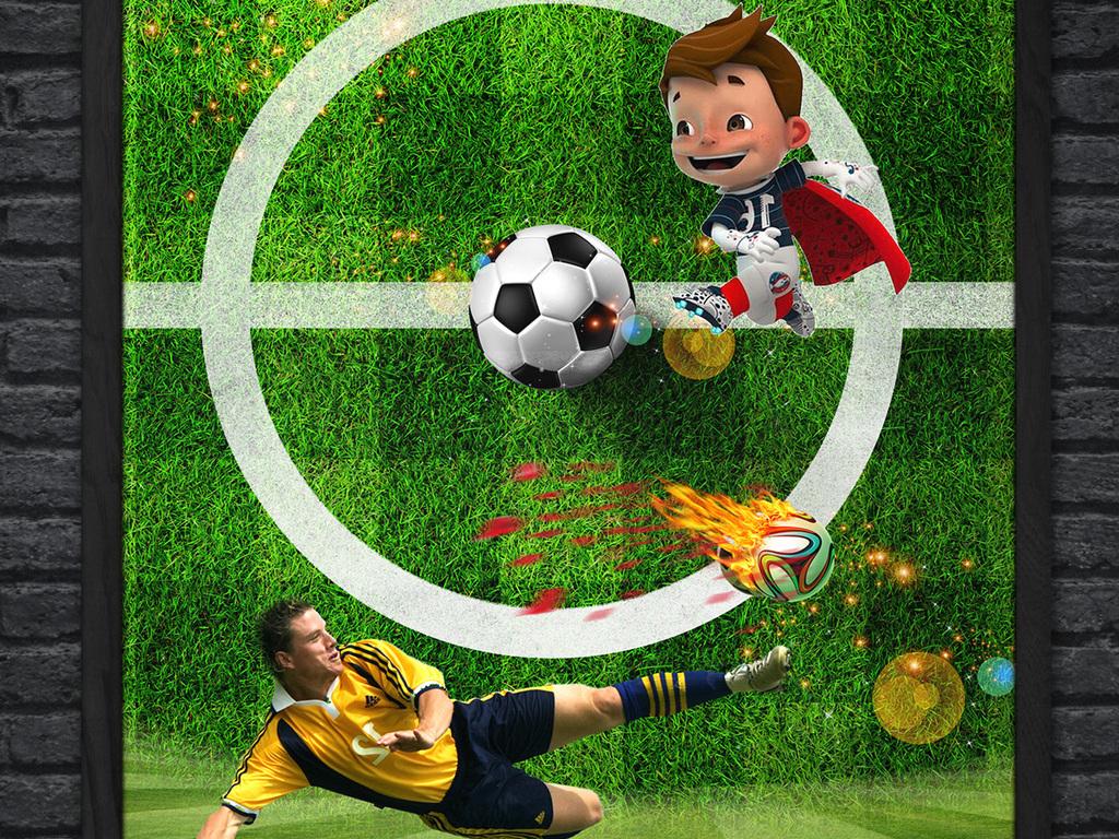 足球大师比赛宣传海报|中小学生足球培训招生海报设计图片
