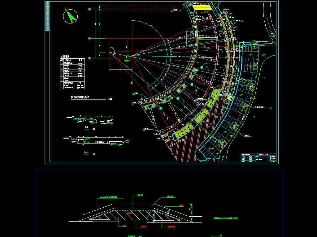 停车场cad布置设计图平面图下载(图片0.87mb)_其他_全