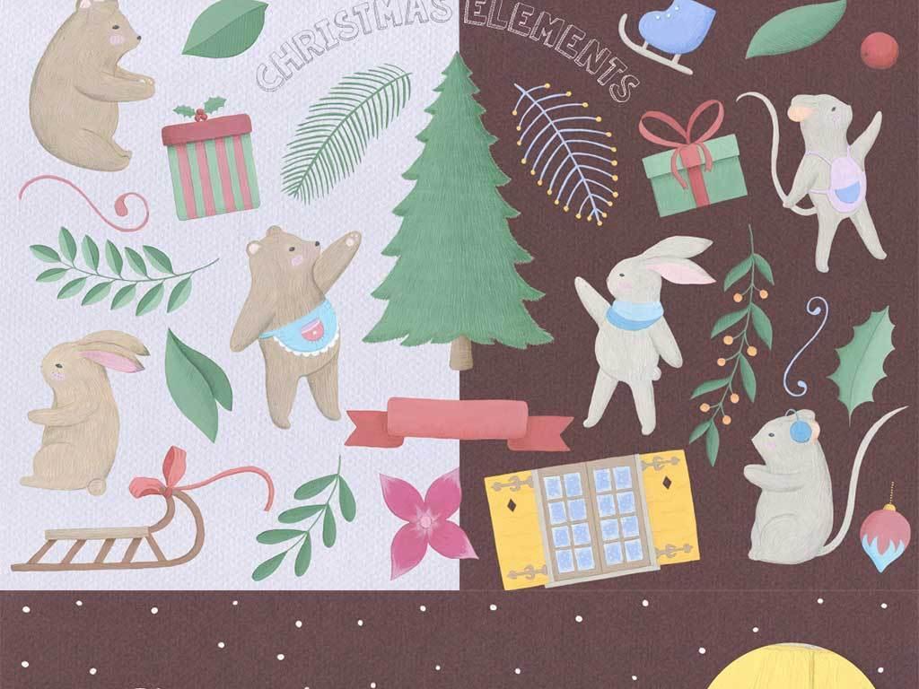 68款手绘卡通装饰背景素材