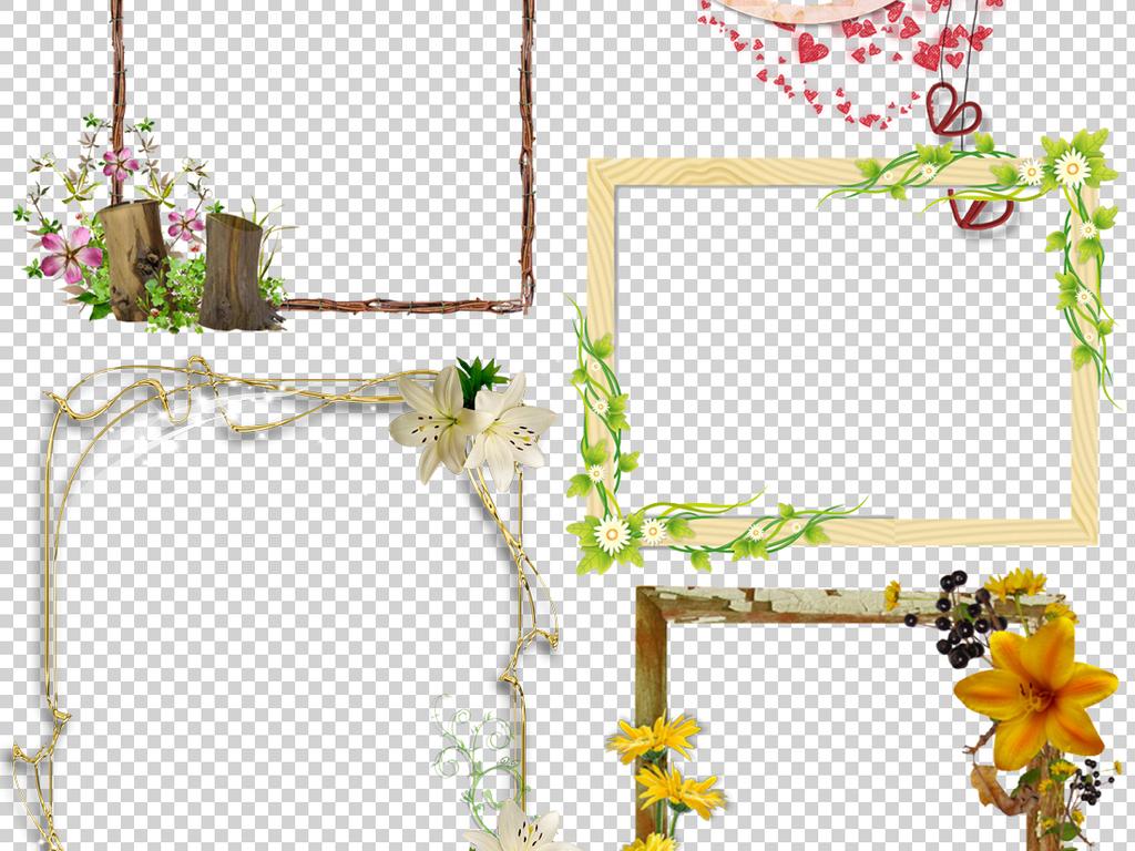 欧式画框ps画框素材边框花边边框