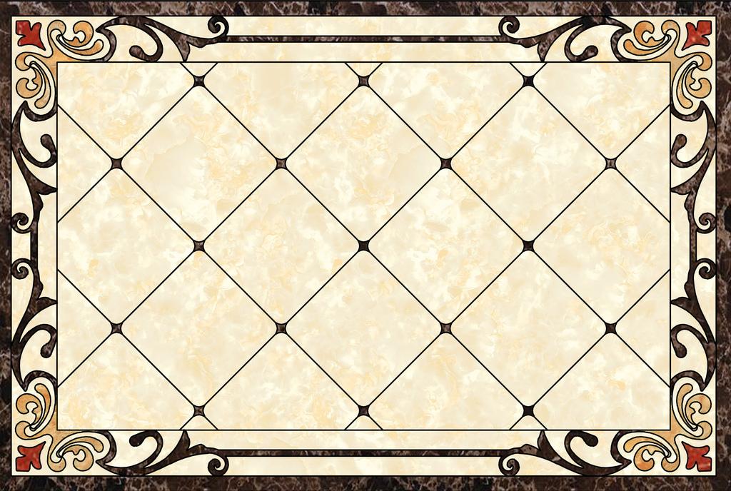 简约欧式花纹大理石地砖拼花背景墙图片