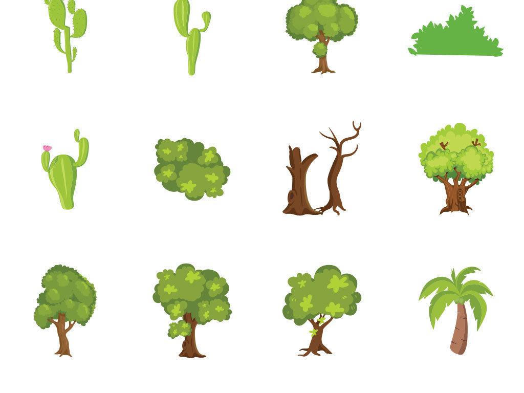 卡通大树设计素材