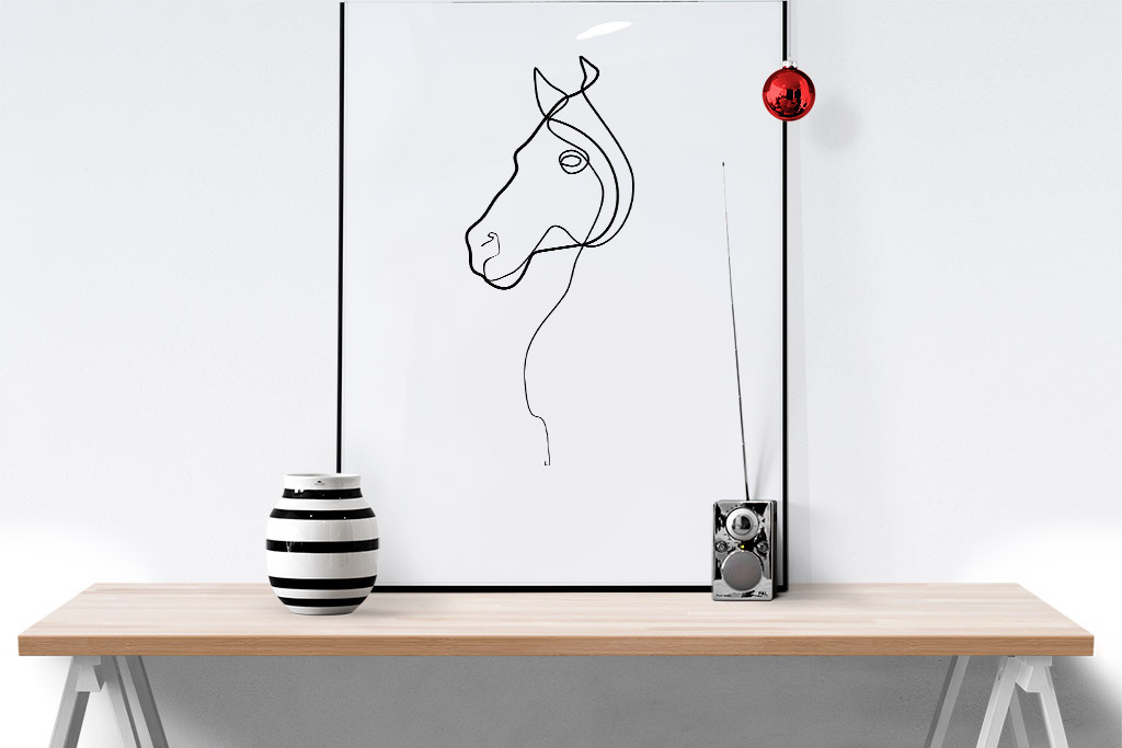 ai)北欧风格一笔画线条动物装饰画oneline北欧简约风格北欧动物