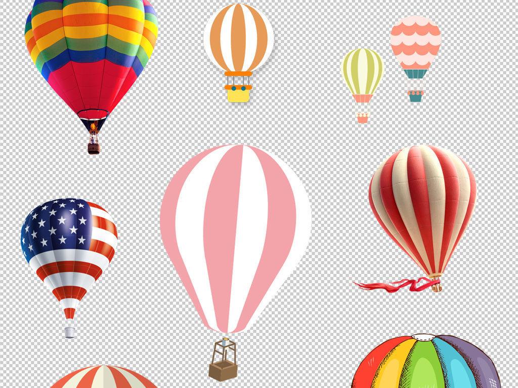 热气球装饰png设计素材