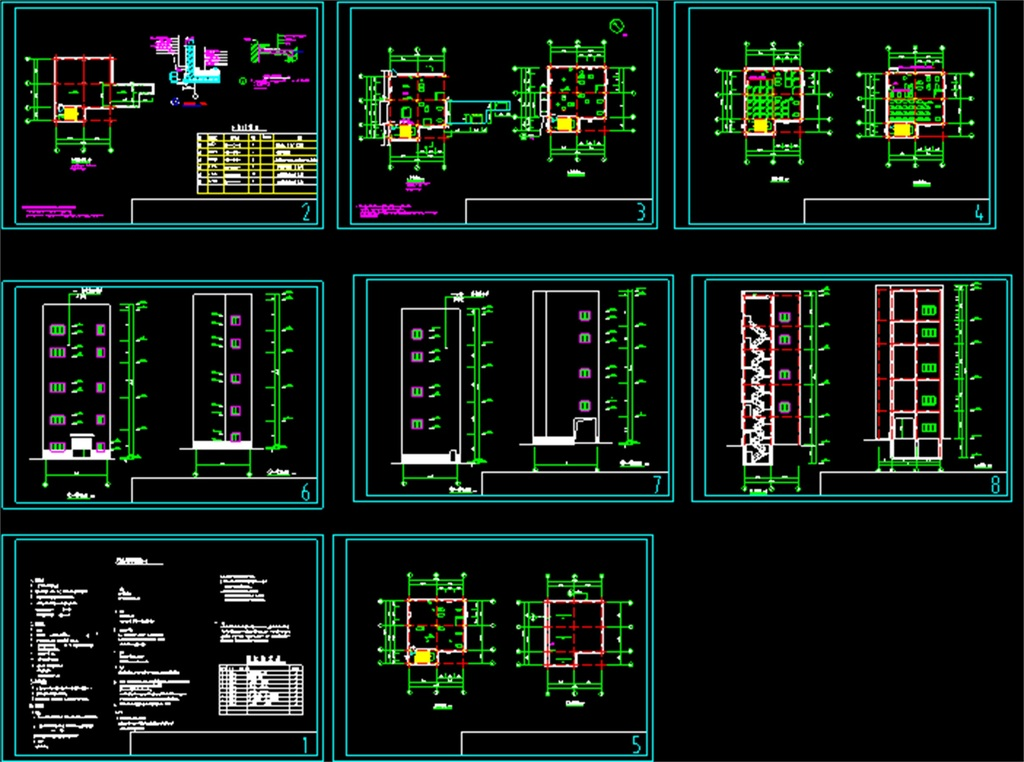 平面图厂房cad施工图厂房钢结构高层钢结构车间厂房设计厂房cad建筑图