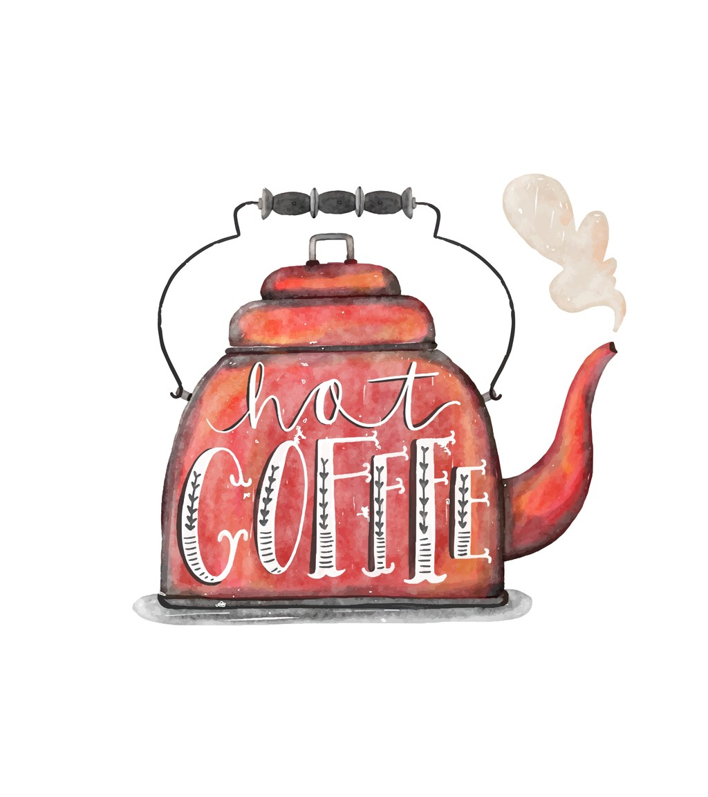 原创设计手绘水壶艺术效果卡通生活元素