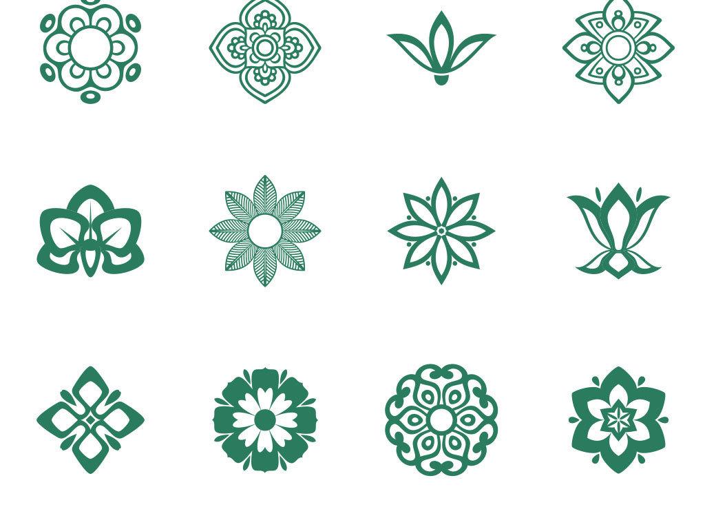 矢量花瓣设计元素