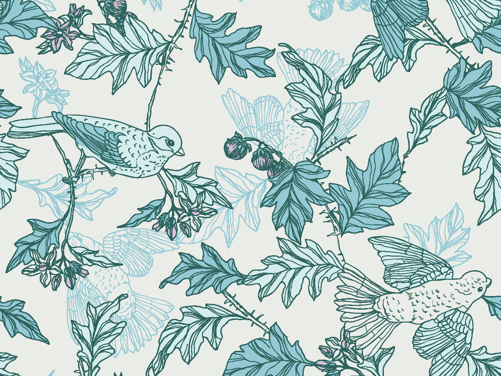 植物图案矢量图花卉装饰图案矢量素材图案花卉传统花卉图案线稿欧式