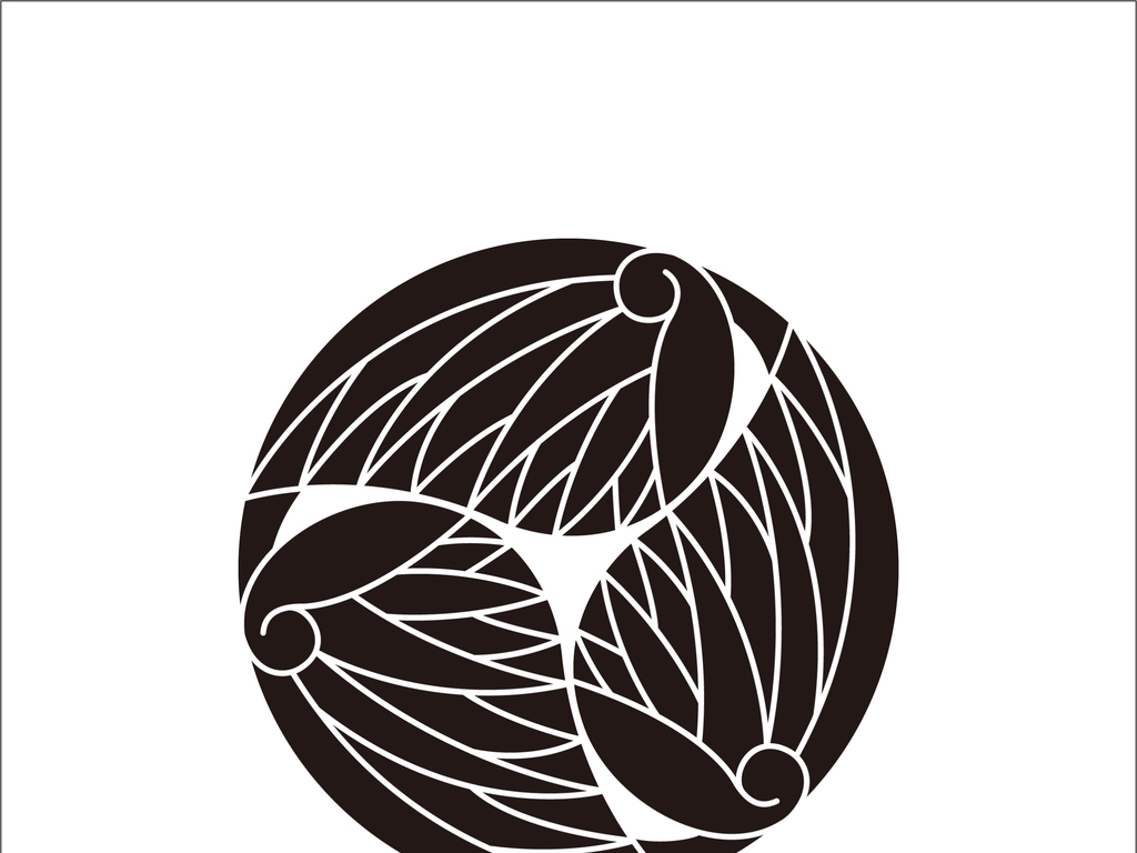 设计元素 自然素材 动物 > 日式花纹羽毛黑白装饰画简约时尚日式风格