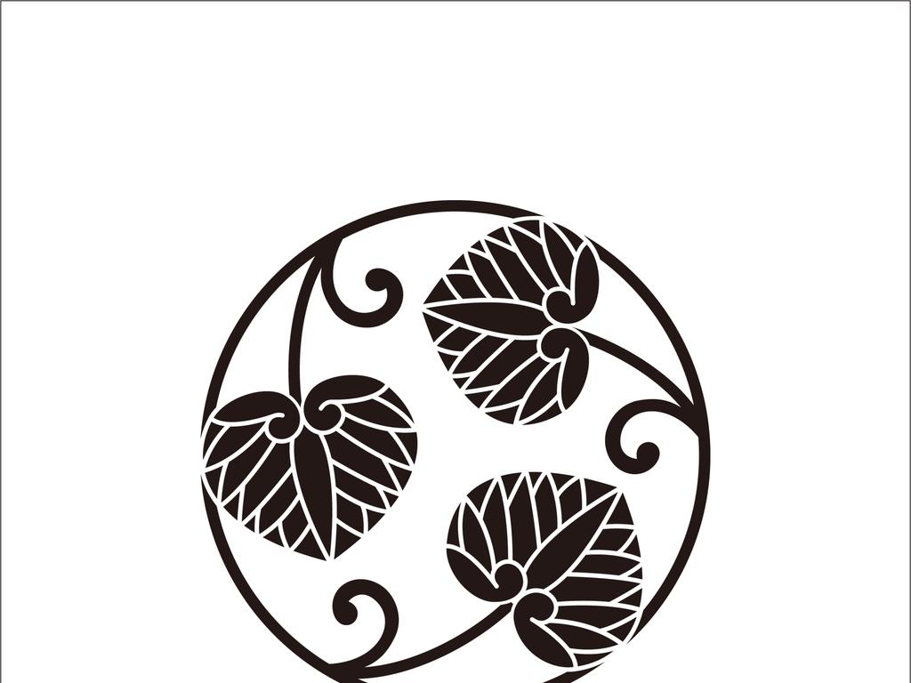 设计元素 自然素材 树叶 > 黑白日式花纹  版权图片 分享 :  举报有奖