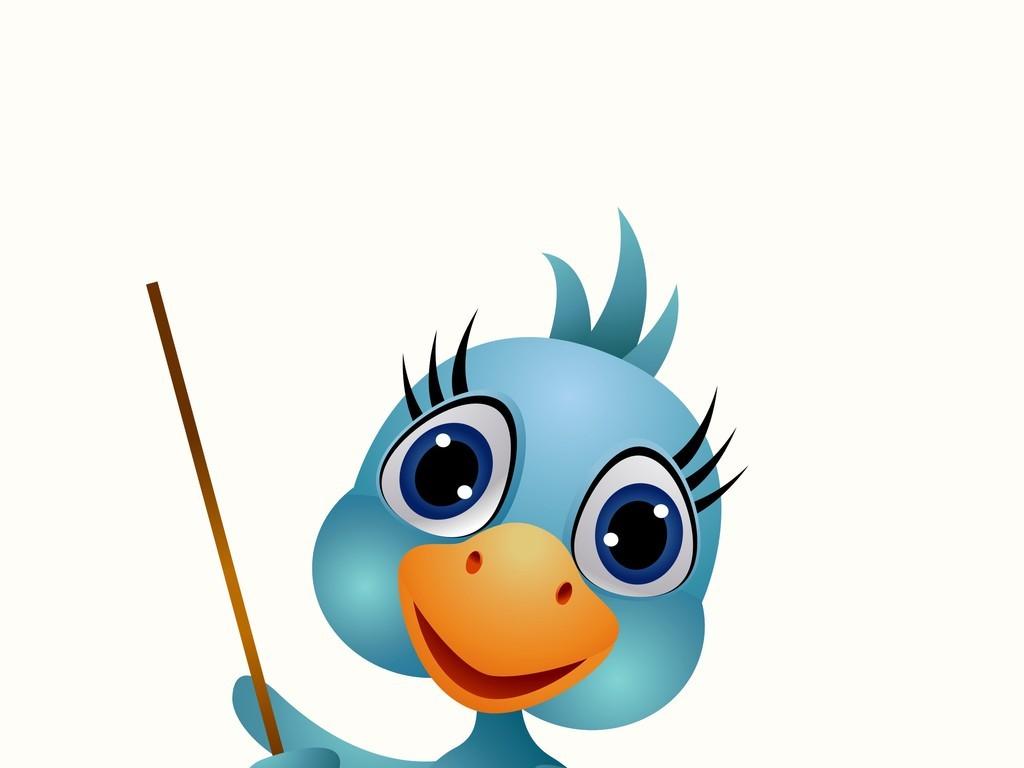 卡通动物图案插画小鸟小鸡