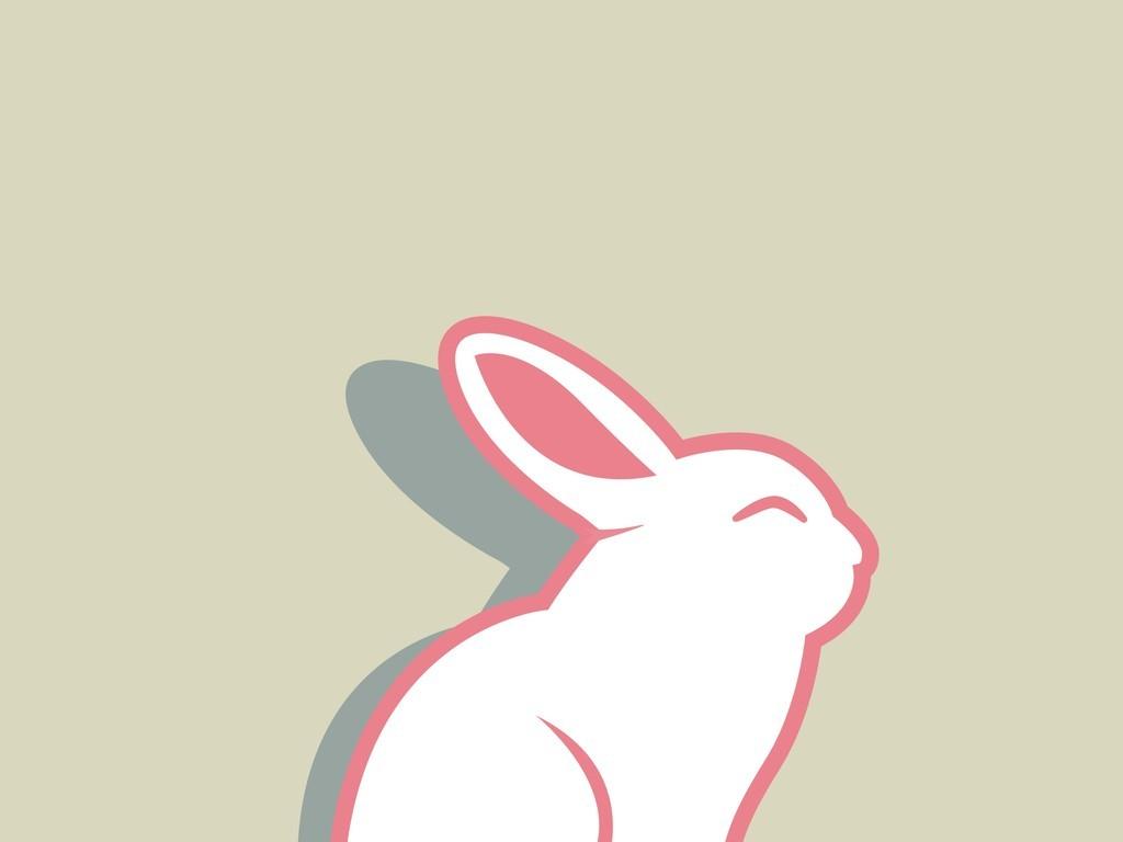 卡通动物矢量图兔子