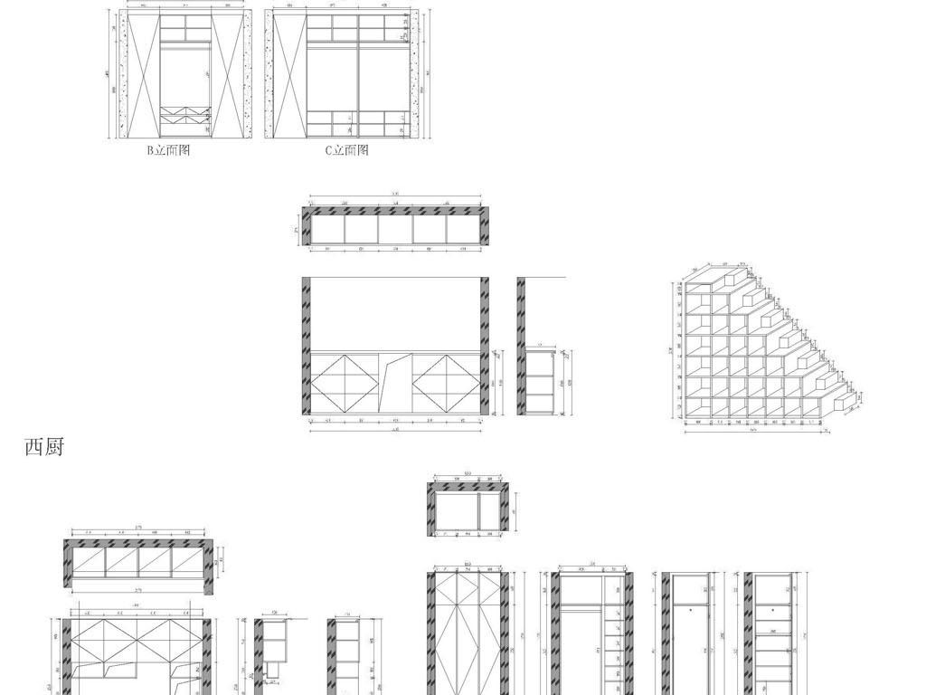 我图网提供精品流行 厨房家具设计CAD图纸素材 下载,作品模板源文件可以编辑替换,设计作品简介: 厨房家具设计CAD图纸, , 使用软件为 AutoCAD 2012(.dwg) 实木橱柜 厨房装饰图 厨房CAD图 橱柜整体家具 整木定制 整木家居 整体家具设计 整体家具CAD图纸 CAD整体柜橱 厨房家具设计 实木家具 厨房 图纸 家具设计图纸 设计图纸 厨房家具