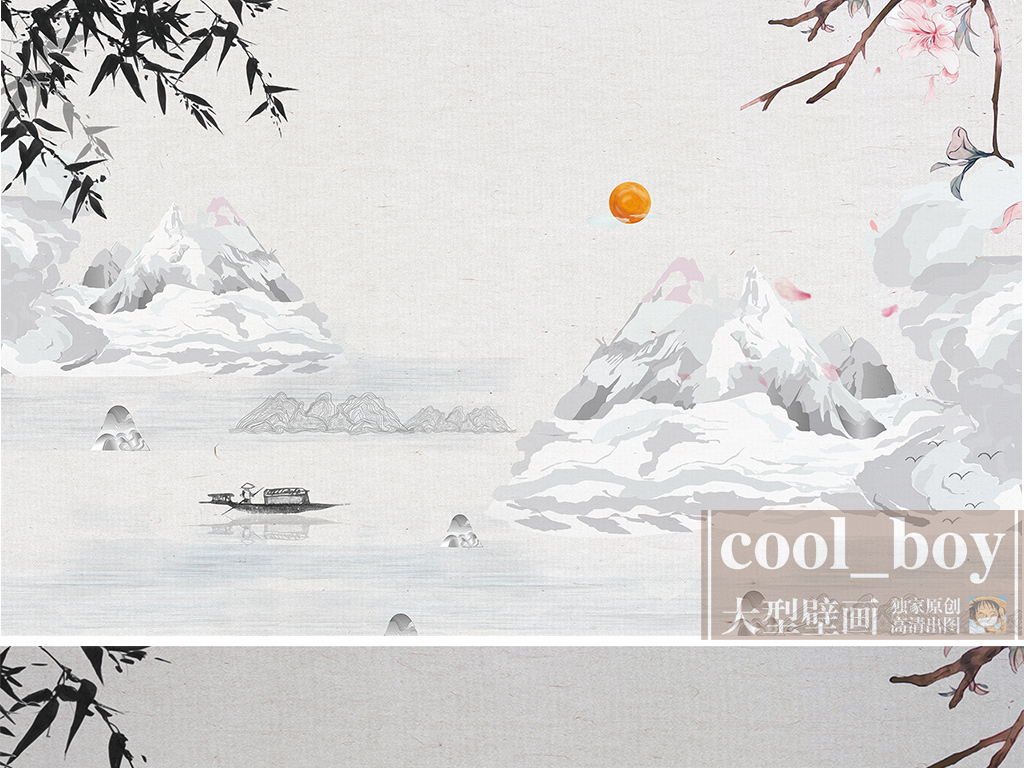 手绘山水春天的柳树春天的柳树图片柳树风景图片柳树图片柳树水墨画