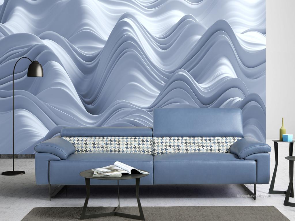 抽象山峰3d背景墙