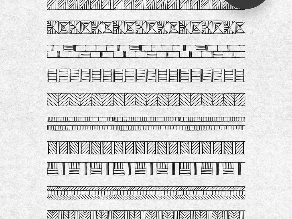 30款手绘线条图案填充素材