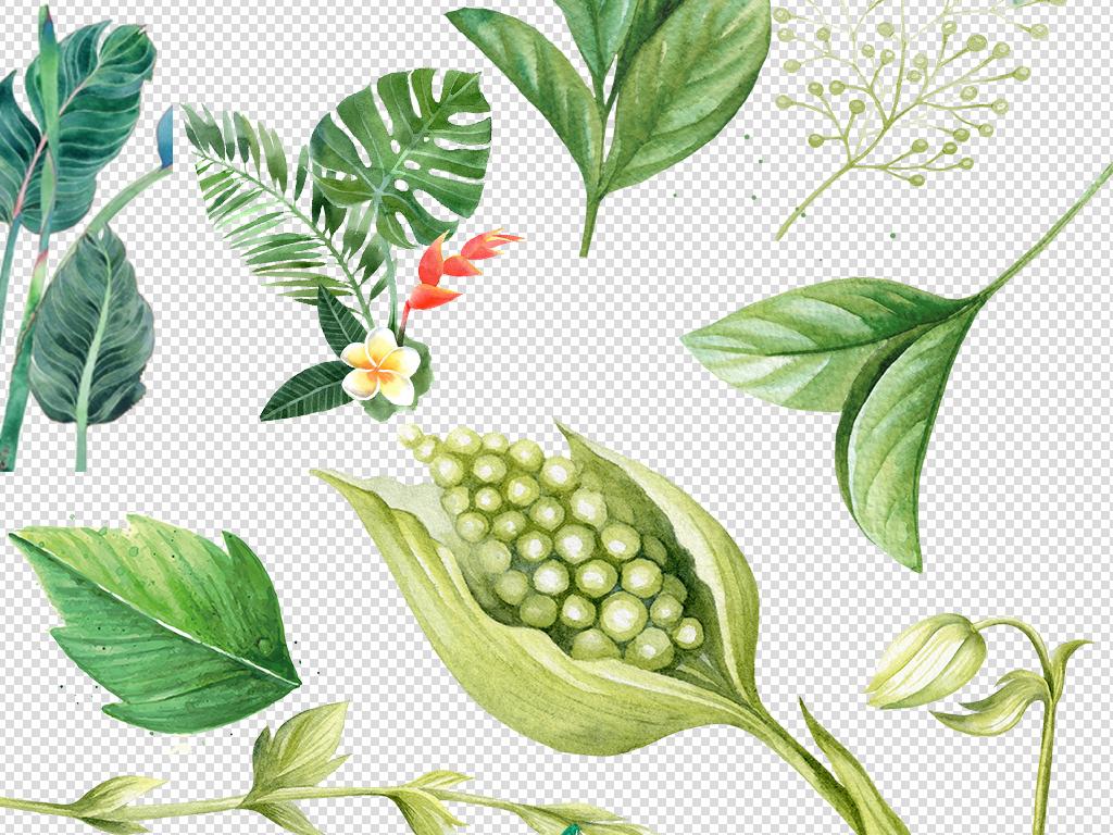 珠宝店铺首页浪漫手绘春天春季素材水墨花水墨元素图片