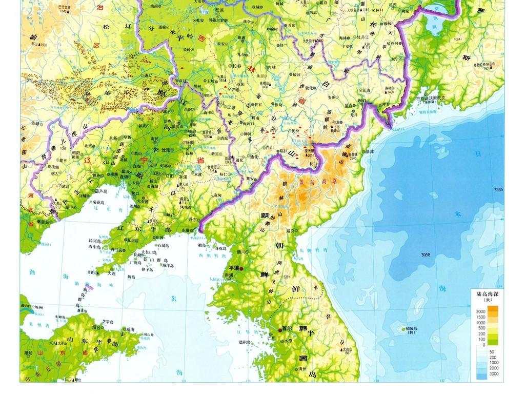 平面|广告设计 地图 其他地图 > 东北三省地形图高清大图  版权图片图片